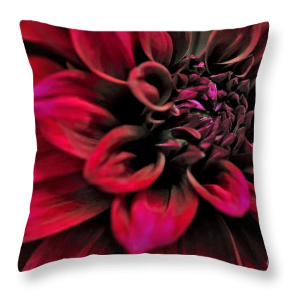Shades of Red - Dahlia Throw Pillow by Kaye Menner