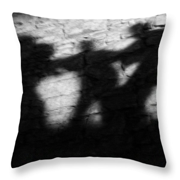 Shadows on the Wall of Edinburgh Castle  Throw Pillow by Christine Till