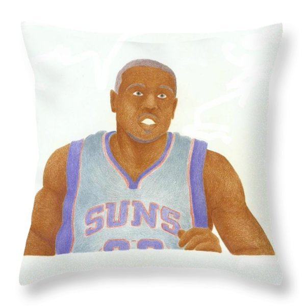 Shannon Brown Throw Pillow by Toni Jaso
