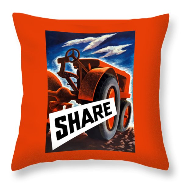 Share  Throw Pillow by War Is Hell Store
