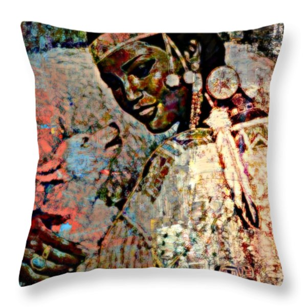She Dances With Wolves Throw Pillow by WBK