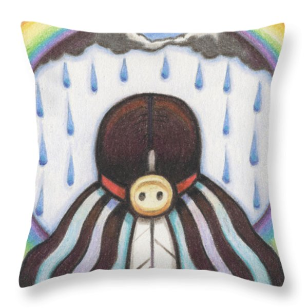 She Who Brings The Rain Throw Pillow by Amy S Turner