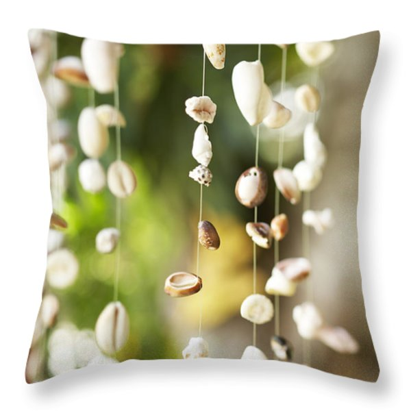 Shell Windchimes Throw Pillow by Kyle Rothenborg - Printscapes