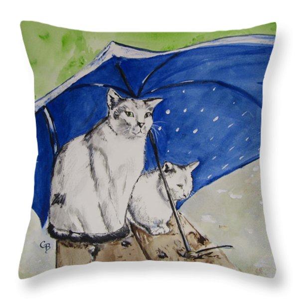 Shelter Throw Pillow by Carol Blackhurst