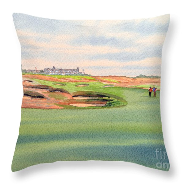 Shinnecock Hills Golf Course Throw Pillow by Bill Holkham