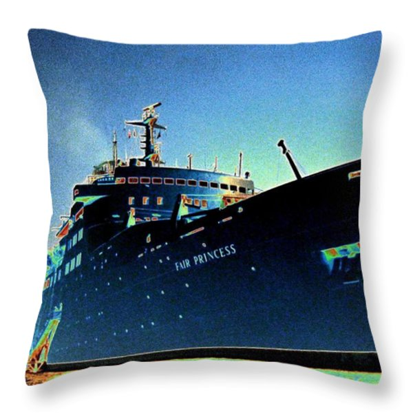 Shipshape 9 Throw Pillow by Will Borden