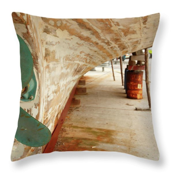 Shipyard Throw Pillow by Gaspar Avila