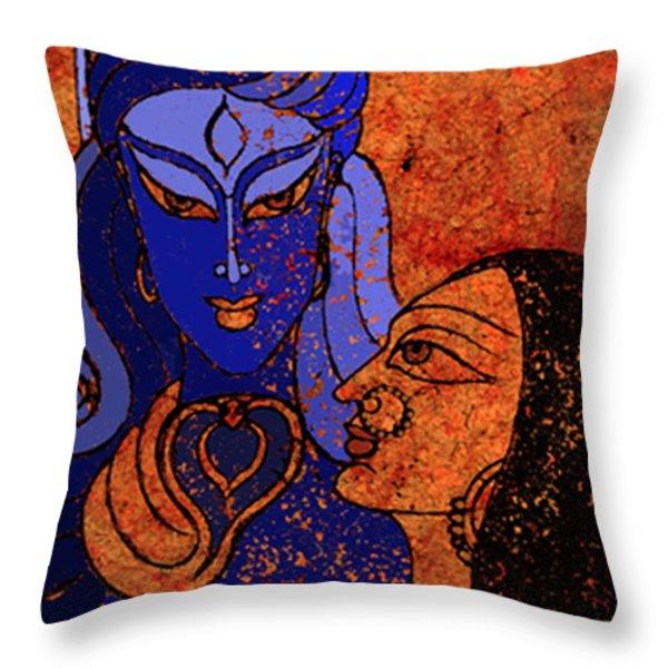 Shiva And Shakti Throw Pillow by Sonali Chaudhari