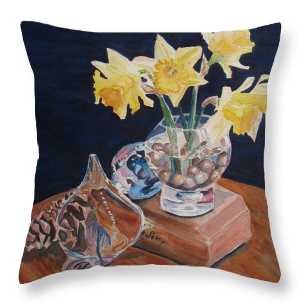 Short Story II Throw Pillow by Jenny Armitage