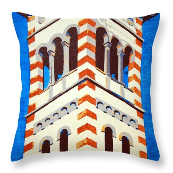Shrine Bell Tower Detail Throw Pillow by Sheri Parris