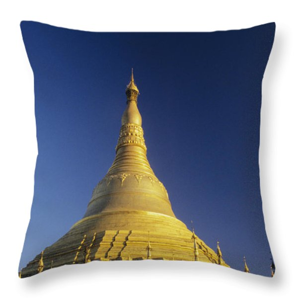 Shwedagon Paya Throw Pillow by William Waterfall - Printscapes