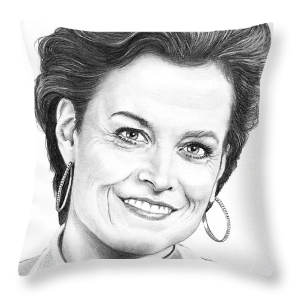 Sigourney Weaver Throw Pillow by Murphy Elliott