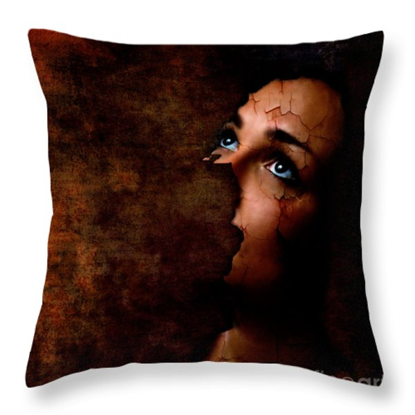 Silenced Throw Pillow by Jacky Gerritsen