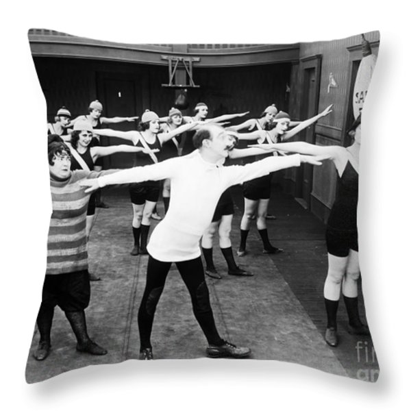 Silent Still: Gymnasium Throw Pillow by Granger