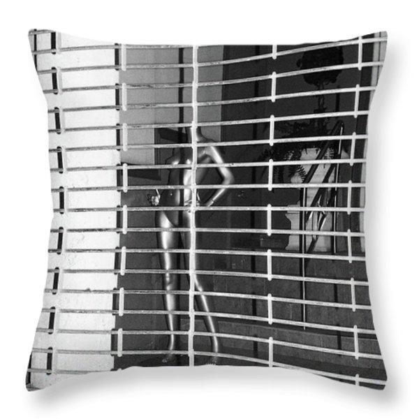 Silver Mannequin I Throw Pillow by Anna Villarreal Garbis
