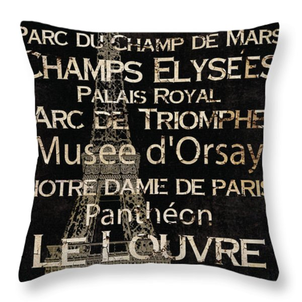 Simple Speak Paris Throw Pillow by Grace Pullen