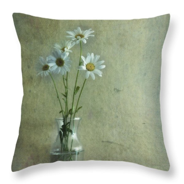 simply daisies Throw Pillow by Priska Wettstein