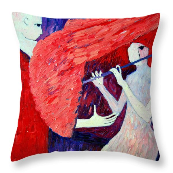 Singing To My Angel 1 Throw Pillow by Ana Maria Edulescu