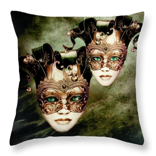 Sisters Throw Pillow by Photodream Art