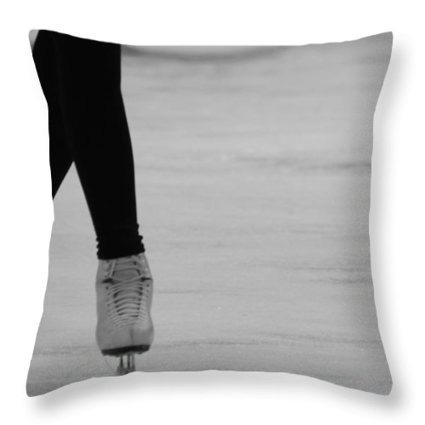 Skating Throw Pillow by Lauri Novak