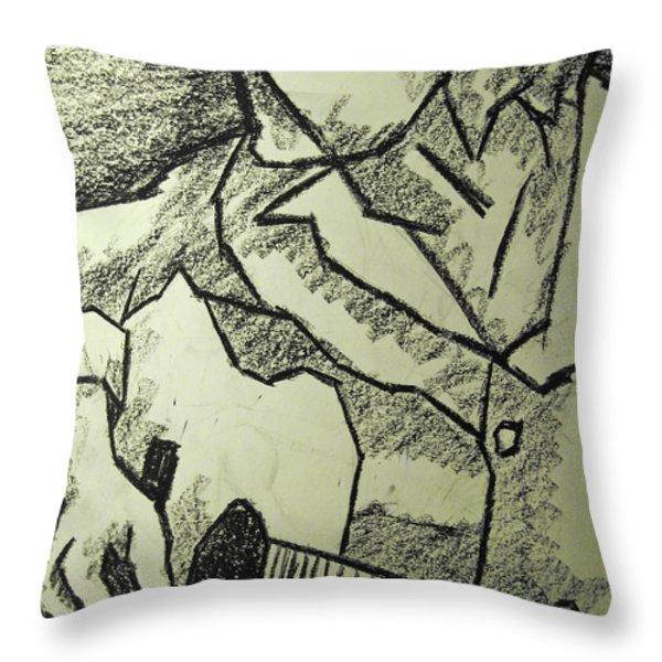 Sketch - Guitar Man Throw Pillow by Kamil Swiatek