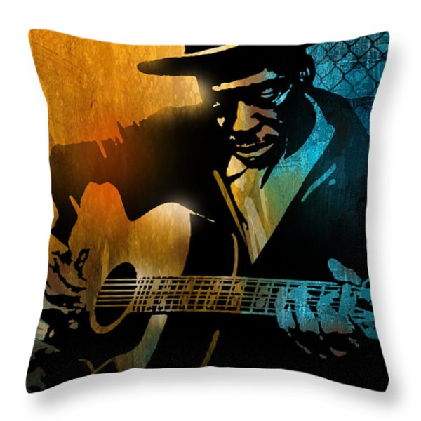 Skip James Throw Pillow by Paul Sachtleben