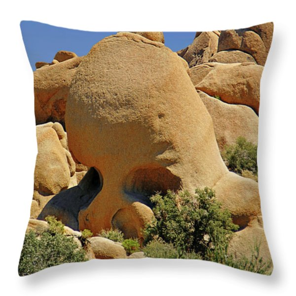 Skull Rock - The Hills Have Eyes Throw Pillow by Christine Till