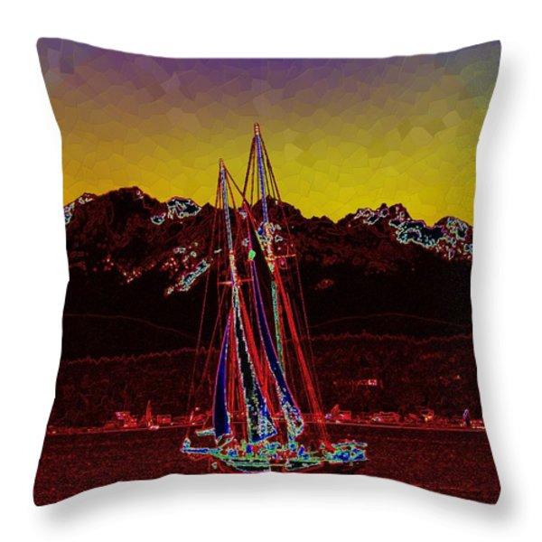 Sky Diamonds Throw Pillow by Tim Allen