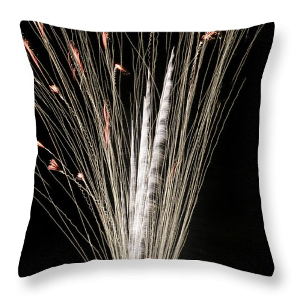 Sky Flowers Throw Pillow by Phill Doherty