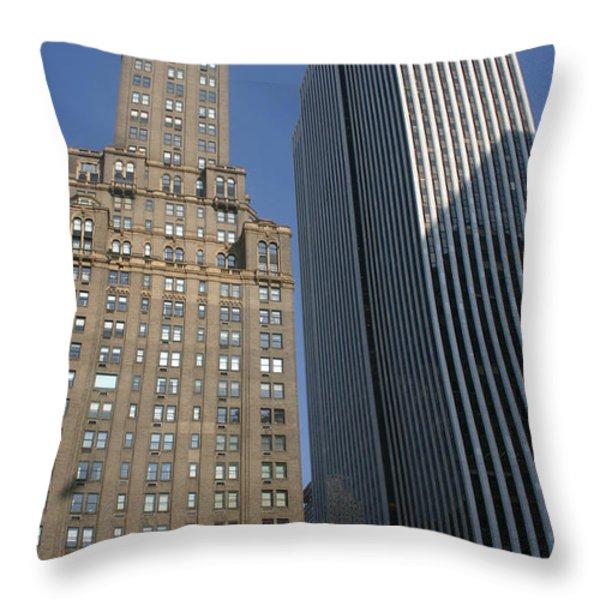 Sky Scrapers Throw Pillow by Rick De Wolfe