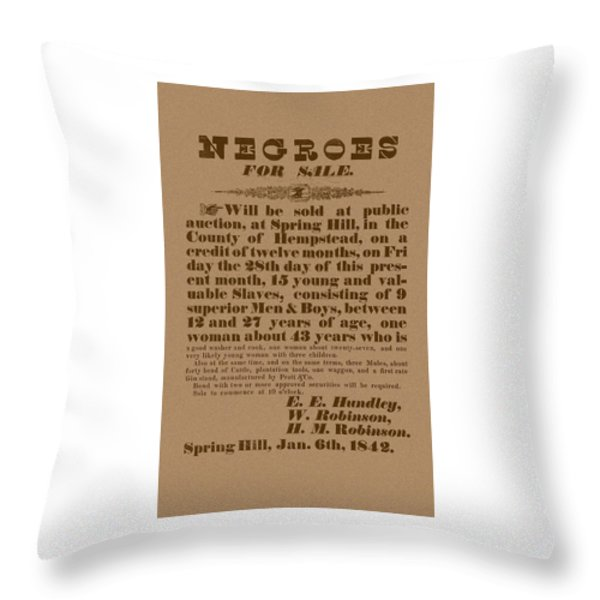 Slave Auction Throw Pillow by War Is Hell Store