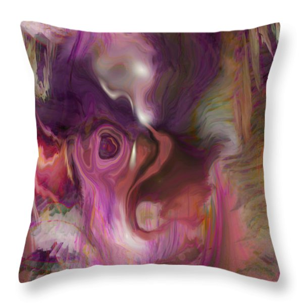 Sleep Of No Dreaming Throw Pillow by Linda Sannuti