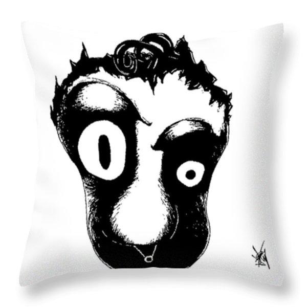 Slick Patrick Throw Pillow by Jera Sky