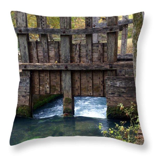 Sluce Gate Throw Pillow by Marty Koch