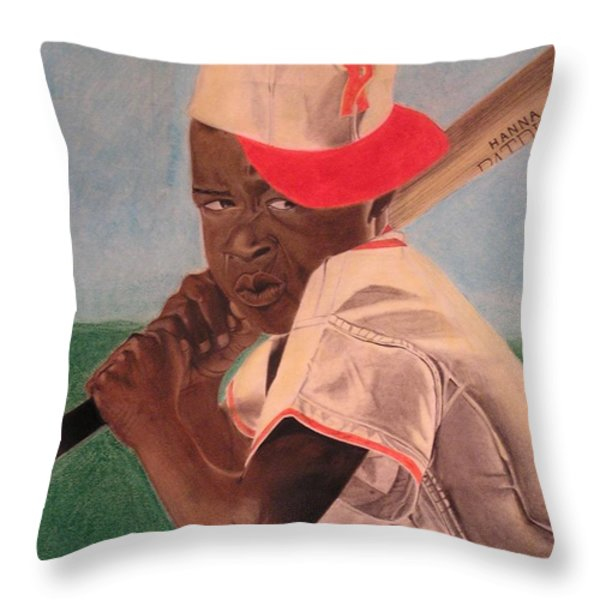 Slugger Throw Pillow by Wil Golden