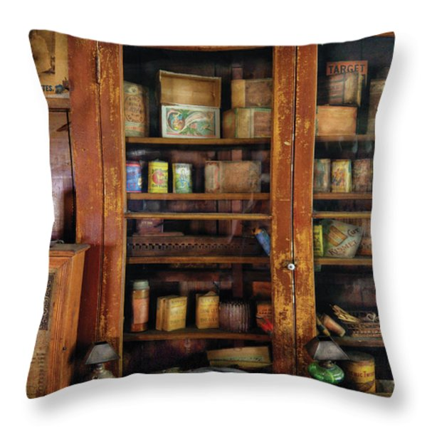 Smoker - Fine Tobacco Products Throw Pillow by Mike Savad