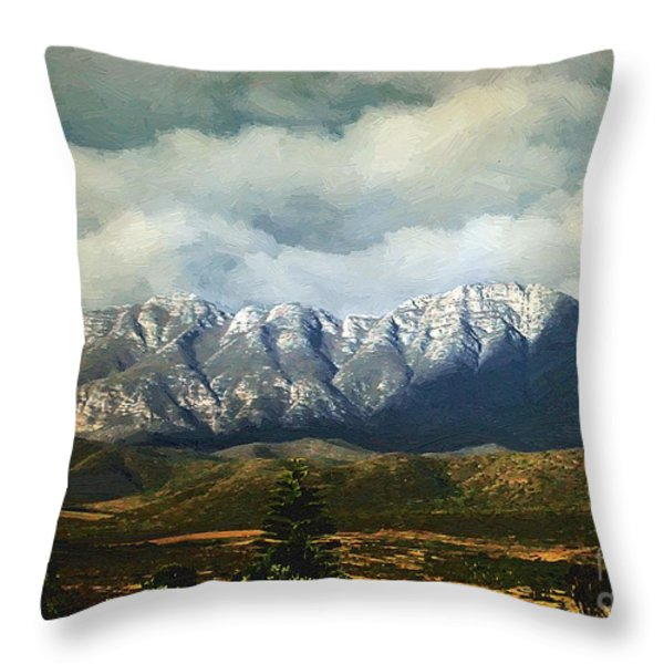 Smoky Clouds On A Thursday Throw Pillow by RC deWinter
