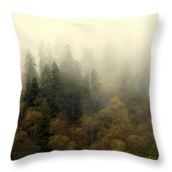 Smoky Mount Horizontal Throw Pillow by Marty Koch