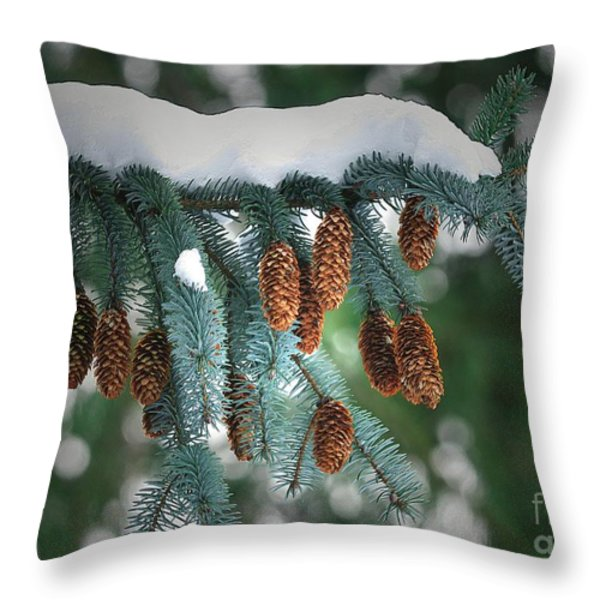 Snow Cones Throw Pillow by Sharon  Talson