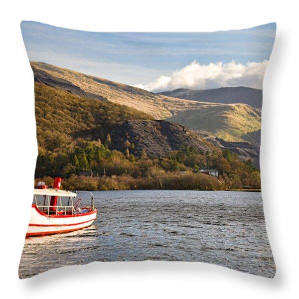 Snowdon Star Throw Pillow by Dave Bowman
