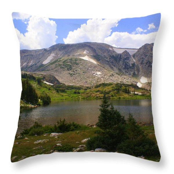 Snowy Mountain Loop 9 Throw Pillow by Marty Koch