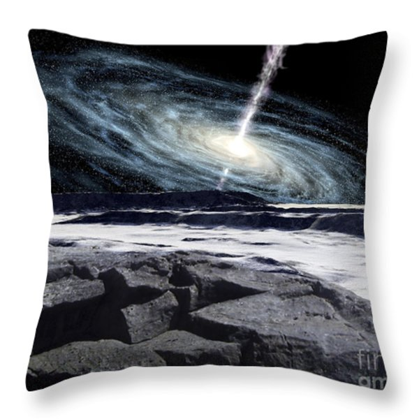 Some Galaxies Have Powerfully Active Throw Pillow by Ron Miller