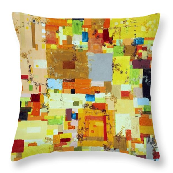 Song of Solar Fusion Throw Pillow by Regina Valluzzi