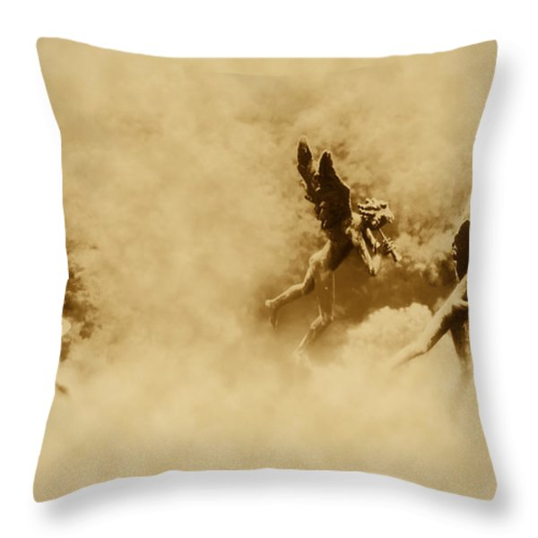 Song of the Angels in Sepia Throw Pillow by Bill Cannon