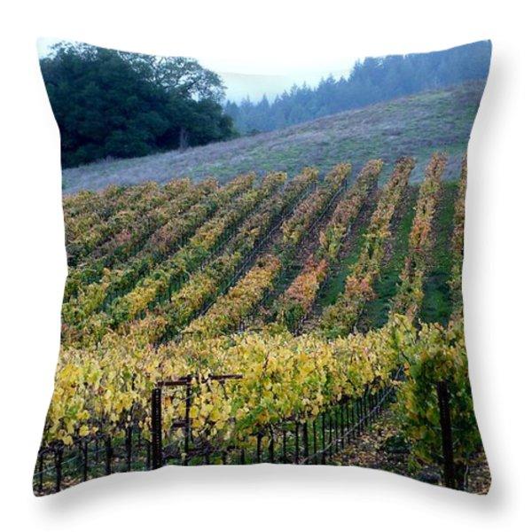 Sonoma County Vineyards Near Healdsburg Throw Pillow by Charlene Mitchell