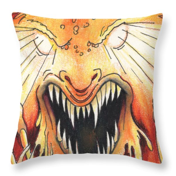 Soul Eater Throw Pillow by Amy S Turner