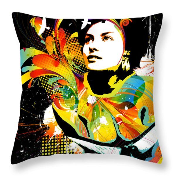 Soul Explosion II Throw Pillow by Chris Andruskiewicz