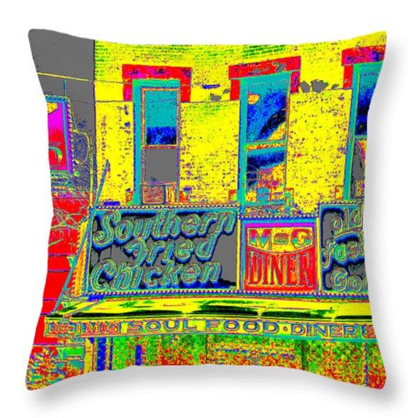 Soul Food Throw Pillow by Steven Huszar