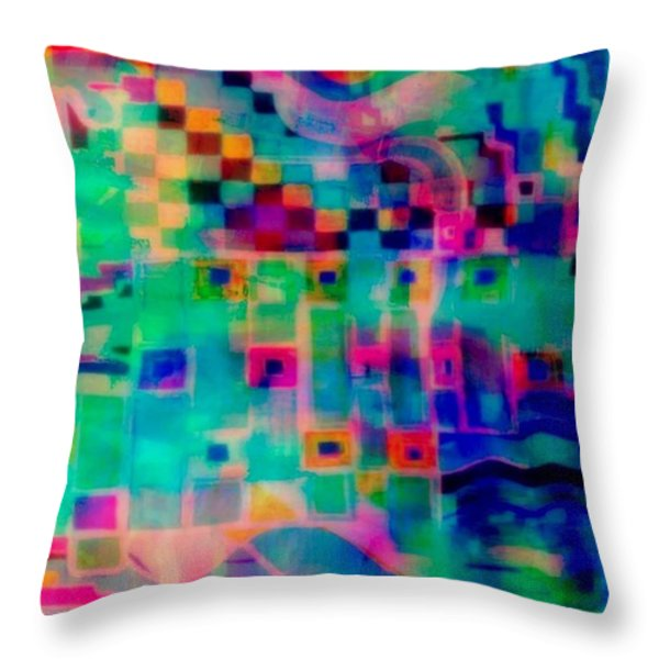 South Beach Throw Pillow by WBK
