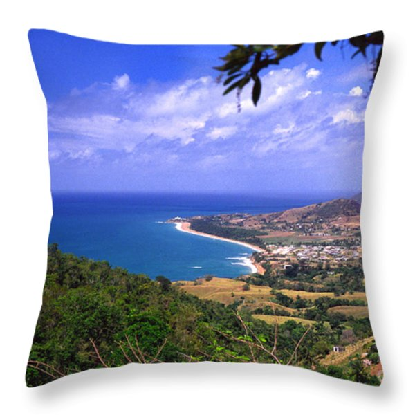 Southeast Coast Of Puerto Rico From Panoramic Route 901 Throw Pillow by Thomas R Fletcher